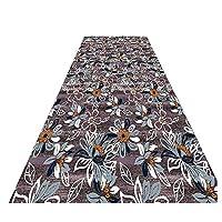 ZEMIN 廊下敷きカーペッ フローラル 庭園 カーペット 滑り止め バッキング 現代の にとって エリア 柔らかい、 2色、 マルチサイズ カスタム (色 : A, サイズ さいず : 1x2m)