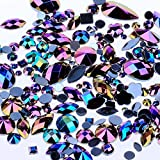 Mixed 300pcs Crystal Clear AB Nail Art Rhinestones DIY Non Hotfix Flatback Acrylic Nail Stones Gems For 3D Nails Art Decorati
