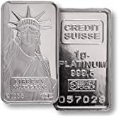 【1g プラチナバー】スイスクレジット プラチナバー 1g クレディー・スイス銀行発行 1gの純プラチナ インゴット Pt Platinum  白金 INGOT プラチナ地金 保証書付き