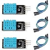 HiLetgo 3個セット DHT11温度センサー モジュール湿度センサーモジュール デュポンラインと付属 Arduinoと互換 [並行輸入品]