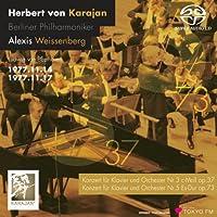 ベートーヴェン: ピアノ協奏曲第3番&第5番 (Beethoven : Piano Concerto No.3&5 / Alexis Weissenberg, Herbert von KrajanKarajan & BPO (1977)) [SACD シングルレイヤー]