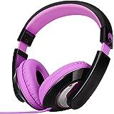 Rockpapa Comfort Stereo On Ear/Over Ear Headphones Earphones, Adjustable Headband for Kids Childs/Adults, iPad MacBook Surfac