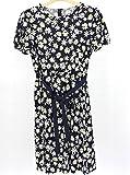 (ギャラリービスコンティ)GALLERY VISCONTI 花柄プリントグログランリボン結びのカットワンピース ネイビー(69)