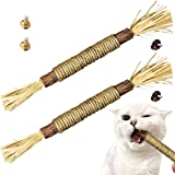 YWAOOH Silvervine for Cats, Interactive Cat Toys for Indoor Cats with Natural Silvervine Sticks, Cat Chew Toy with Cat nip, K