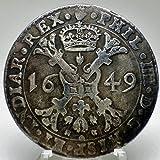 スペイン帝国 パタゴン銀貨 フェリペ4世 1649年 レプリカ