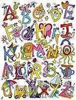 Bothy threads ボシースレッズ Alphabet Fun 楽しいアルファベット XJR8 日本語解説書付き 【正規輸入品】 クロスステッチ キット 【日本代理店品】