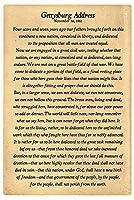 "AllPosters Gettysburgアドレス完全テキストポスター印刷、18x 12"""