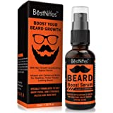 Beard Growth Serum with Biotin & Caffeine – Naturally Powerful, Full, Thick, Masculine Facial Hair Treatment Infused with Bio