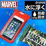DIVAID 水に浮く iPhone 防水ケース スマホ MARVEL マーベル ロゴ iPhone7 iPhone6s iPhone5s IP68