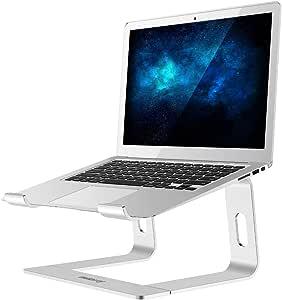 Nulaxy ノートパソコン スタンド ノートPCスタンド ラップトップ タブレットスタンド 優れた放熱性 アルミ合金製 10~17インチに対応 組み立て式 持ち運び便利 銀色 C3