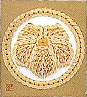 Panami 「コイン手芸」家紋シリーズ No.12丸に蔦