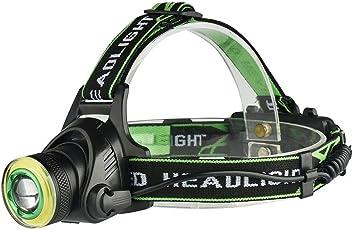 K-outdoor ヘッドライト LED光源 7ギア 探査ランプ 防水 ヘッドランプ USB充電式 登山/キャンプ/夜釣り/作業/バイク/自転車
