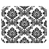 Premium Quality (Mousepad) Damask Black and White Fashion Print On 1/4 Super Thick Non Slip Genuine Rubber Mouse Pad (Gaming Mousepad) Gaming Mouse pad With Polyester top by S & S Accessories(TM) by S and S Accessories(TM)