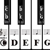 DRMFSLS Kids Piano Keyboard Stickers for 88/61/54/49/37 Key. Colorful Large Bold Letter Piano Stickers Perfect for kids Learn