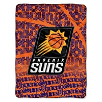 "公式に認可されたNBA Phoenix Suns Redux Micro Raschel Throw Blanket、46"" X 60""、マルチカラー 120X150"