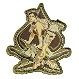 CQB アメリカ軍隊 特殊部隊 ミリタリー パッチ ベルクロ ワッペン 腕章 13色 BZ009 (射撃の女)