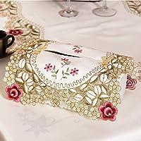yazi-フレンチスタイル ロマンチック 花柄 刺繡 カットワーク ティッシュケース ティッシュボックスカバー