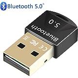 Bluetoothアダプター 5.0 送信機 受信機 低遅延 超小型 ドングル 最大通信距離20m apt-X対応 ED…