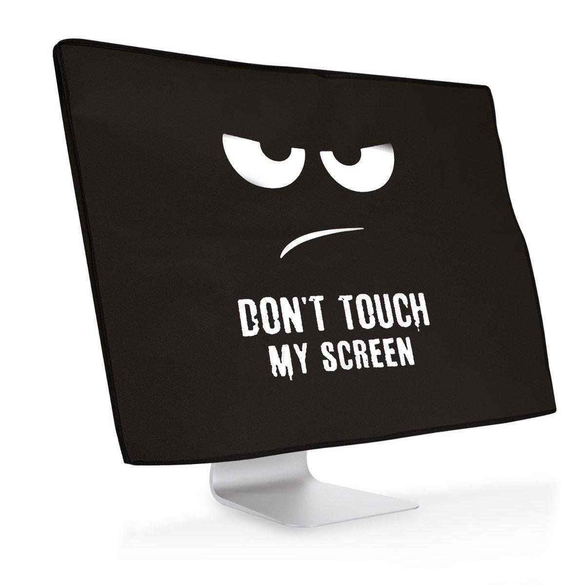 """kwmobile スクリーン 保護カバー 20-22""""モニター用 - 埃保護 PC モニター カバー白色黒色 Don't touch my screenデザイン"""