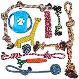 (11個セット) 犬ロープおもちゃ 犬おもちゃ 犬用玩具 噛むおもちゃ ペット用 コットン ストレス解消 丈夫 耐久性 清潔 歯磨き 小/中型犬に適用 (11個 セット)