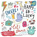 Easy Coloring Book Let's Dance, Cake, Elephant, Panda, Kitty, Castle, Positive, Fairy Tales, Bird, Penguin, Flowers, Football, Wolf and others. Large 100+ pages. Big size 8,5x8,5 in. Made in USA Relax Coloring Book Doodle (Coloring Book Lets Dance and others Doodle)