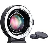 Commlite CM-AEF-MFTブースター Canon EFレンズ→マイクロフォーサーズ 0.71倍 スピードブースター オートフォーカスアダプター Panasonic GH4 GH5 GF6 GF1 GX1 GX7 Olympus E-M5 E-M10 E-PL5対応