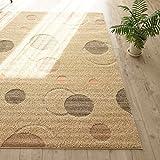 洗える 抗菌 ラグ カーペット かわいい 水玉 模様 ( 190X240 cm ベージュ ) 約 3畳 日本製 ホットカーペット 床暖房対応