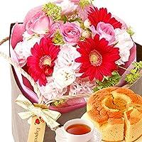 生花 スイーツセット トライバックタイプ 誕生日プレゼント (ピンク色)