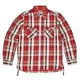 (ヒューストン) HOUSTON チェックワークシャツ XL 02レッド