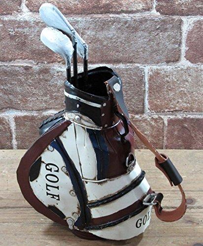東洋石創 アンティーク調 ブリキのオブジェ(golfbag) 27587