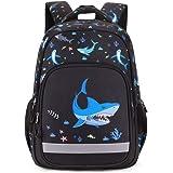 Bansusu Cool Shark Primary Middle School Bag Backpack Capacity Elementary Bookbag Casual Daypack