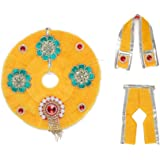 Yellow Cloth for Lord Krishan Ladu Laddu Gopal Kanaiya Bal Krishna Dress Poshak Vastra for Little Metal Idol Statue (Size:- 8
