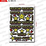 KUNGFU GRAPHICS カンフー グラフィックス ROCKSTAR ロックスター レーシングスポンサーロゴ マイクロデカールシート (イエロー)