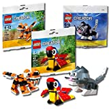 LEGO CreatorオレンジTiger 30285?+ Parrot 30472?+ Cute Kitten Cat 30188動物バンドル3?- in - 1セット