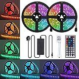 LED Strip Lights, JR INTL 32.8FT / 10m 300 LED RGB LED Light Strip 5050 LED Tape Lights, Color Changing LED Strip Lights with Remote for Home Lighting Kitchen Bed Flexible Strip Lights for Bar Home Decoration