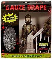 Amscan Gauze Drape Halloween Trick Or Treat Zombie Decoration (1 Piece) Gray 15' [並行輸入品]