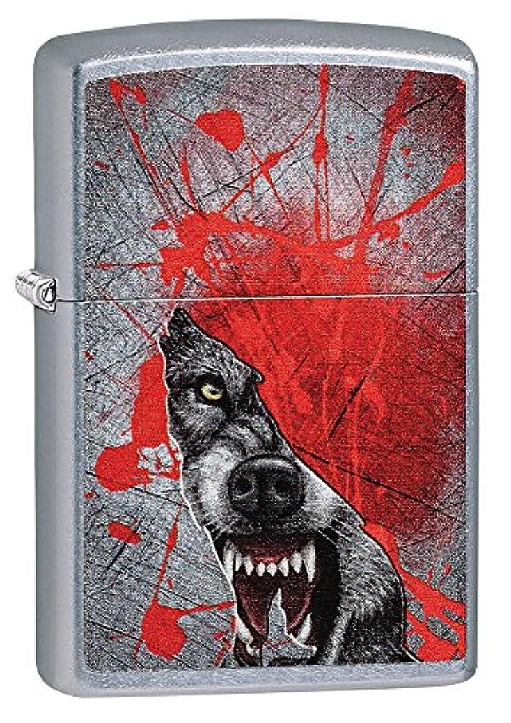 弁護連想ダブルZIPPO(ジッポー) Wolf (ウルフ) ライター 日本未発売 29344 Street Chrome Wolf [並行輸入品]
