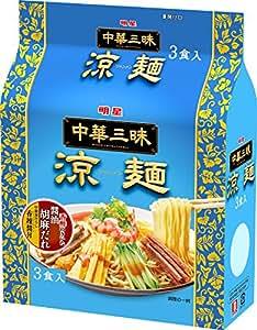 明星 中華三昧 涼麺 3食パック 417g×4個