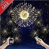 TECKEPIC イルミネーションライト ストリングライト 300 LED ロマンチック雰囲気 防水 クリスマス ハロウィン パーティー 誕生日 結婚式 庭 広場 街路樹 ウォームライト/RGB