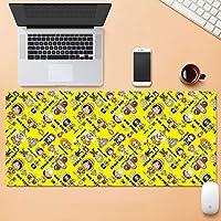 大型ゲーミングマウスパッド拡張マットコンピュータのキーボードパッドステッチエッジ滑り止めラバーベースのスムーズなオペレーティング80×30センチメートル HMMSP (Color : D, Size : 3mm)