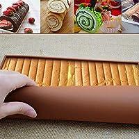 ノンスティックシリコンゼリーロールパンスイスロール金型食品グレードベーキングマットベーカリーオーブンシートクックベーキングケーキ用ヒートセーフパッド