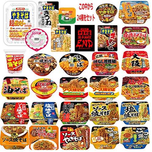 カップ焼きそば ニュータッチ 日清 マルちゃん 金ちゃん 明星食品 大黒食品 ペヤング サッポロ一番 24種セット