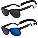 MAXJULI Baby Infant Sunglasses Safe, Soft, With Adjustable Strap 0-24 Months BPA Free 7002