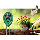 3 in 1 Moisture Meter (No Battery Needed) with pH.1-14 Test Paper, Soil Tester,Soil PH Meter Gardening Tools for PH, Light &