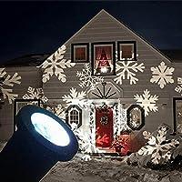 投影ランプ プロジェクションライト レーザーライト クリスマス 飾りライト 祝日 防水 庭園ライト ガーデンライト イルミネーション led 屋外 防水 雰囲気作りライト (白い雪)