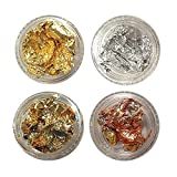 金箔風ホイル 4種類セット ゴールド / シルバー / ブルー / オレンジ