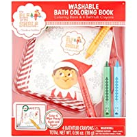 The Elf on the Shelf Washable Bath Coloring Bookカラーリングブックandクレヨン4本
