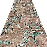 YANZHEN ランナー カーペッグリーンプラムパターン 滑り止め 切断可能 廊下 脱落なし 繊維ブレンド、 長さのカスタマイズ (色 : A, サイズ さいず : 1 x 1m)