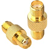 SMA Female to Female Barrel Adapter RF Coax Connector Straight Pack of 2