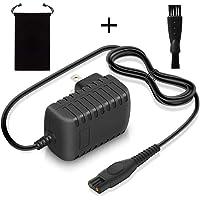 Philips用 シェーバー 充電器 (収納バッグ+ブラシ) PSE認証 互换品 HQ8505 HC3412 HC3402 5000シリーズ対応 ACアダプター 150CM